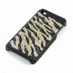 Suitable for IPHONE4 4G Phone Case black stripe Crystal Diamonds