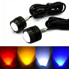 Brand New 2x3W LED DRL Eagle Eye Car Motorcycle Daytime Running Tail Backup Light Snow