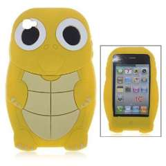 Turtle iPhone4 silicone sleeve | yellow