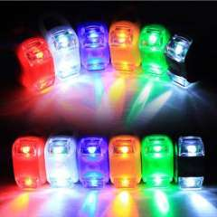 Pratical Cycling Bicycle Bike LED Silicone Head Lamp Rear Light Multi-Colors Snow