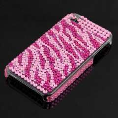 Suitable for IPHONE4 4G pink striped crystal diamond phone case