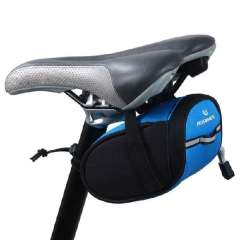 Pratical Cycling Bicycle Waterproof Outdoor Cycling Saddle Bag Pouch Seat Blue Snow