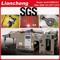 manual cylinder screen printing machine for paper productions linear touch high precision imported parts inverter control PLC