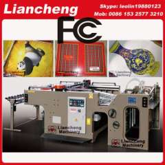 flatbed semi-automatic screen printing machine paper productions linear touch high precision imported parts inverter control PLC