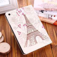 New Eiffel Tower Peony PU Leather Smart Cover Case Stand For iPad Air 5 Just for you