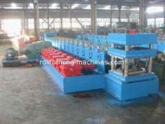 Guardrail Metal Roll Forming Machine, 17 Stations High Precision Roll Forming Machinery