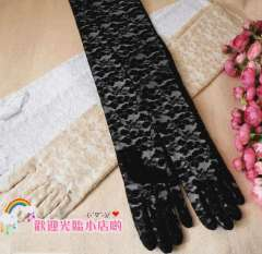 ffree shiping Sunscreen gloves sun-shading gloves long design lace apologetics arm gloves formal dress banquet gloves 60cm