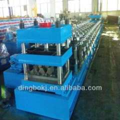 three waves guard rail plate roll forming machine
