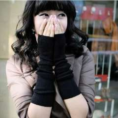 Hot-selling semi-finger personalized lucy refers to all-match long gloves ladies gloves small