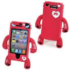 iphone4 shell / devil robots modeling cell phone protective cover - Red Ghost