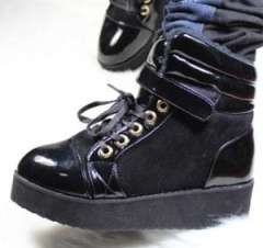 Season cotton boots female 2011 thickening velvet platform high women's buckle casual shoes