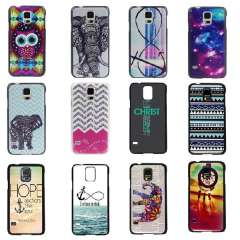 Unique Owl Anchors Elephant Pattern Aztec Tribal Rigid Dream Catcher Back Hard Case Cover For Samsung Galaxy S5 i9600