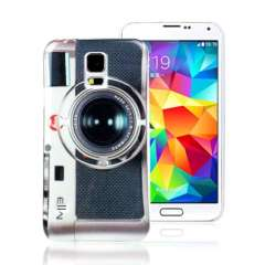 Unique Classic Digital Camera Hard Back Case For Samsung Galaxy S5 i9600 G900 Snow