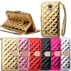 New Fashion Bling Diamond Card Leather Wallet Flip Case For Samsung Galaxy Note 4 Just for you