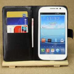 New Flip Leather Stand Case Wallet Cover for Samsung Galaxy Grand DUOS i9082 Black Just for you