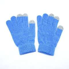 Three-finger touch | Monochrome acrylic touch gloves | iphone gloves | dark blue