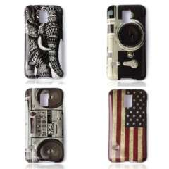 New For Samsung Galaxy S5 Mini America USA Flag Elephants Cassette Tape Recorder Camera Hard Back Case Cover Just for you