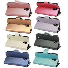New Luxury Brushed Leather Back Case Cover Stand For Samsung Galaxy S4 IV i9500 Jecksioin