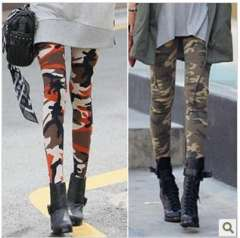 Spring and autumn fashion personality Camouflage ankle length legging pants