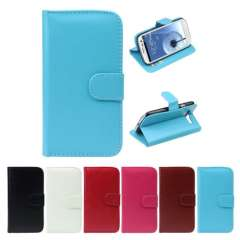 Unique Leather Wallet Flip Case Cover For Samsung Galaxy S3 i9300 Snow