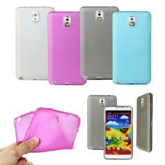 1PC Translucent TPU Cover Case Side Button For Samsung Galaxy Note 3 III N9000 Snow