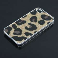 IPHONE 4 large leopard | Gold