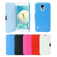 Unique Magnetic Leather Flip Case Cover For Samsung Galaxy S5 I9600 G900 Snow
