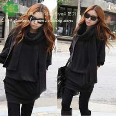 Eive 2013 autumn l elegant long-sleeve pullover basic women's one-piece dress