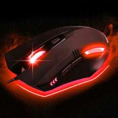 2015 New Hot sale Adjustable 3200DPI LED Wired Gaming Mouse 6D Key Elegant and ergonomic design For PC Laptop Computer Wholesale