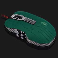 New Professional 9D Sword Master 2400DPI Optical USB Wired Gaming Mouse Green Low Price