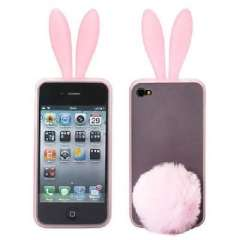 IPHONE 4 bunny silicone mobile phone sets | Pink