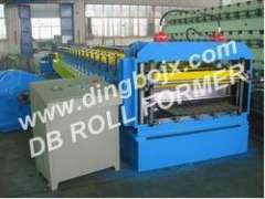 Corrugated steel sheet roll forming machine