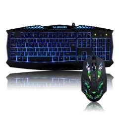 2015 New Professinal Top Brand 2400DPI USB Wire Gaming Mouse+Internet Wired Game Gaming Backlit Keyboard Set Free Shipping