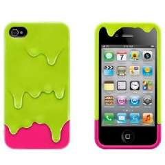 Cool summer IPHONE melting ice cream cell phone protective cover - Green