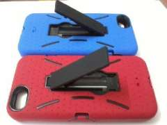 iphone5 phone shell | mobile phone sets | with stand protective sleeve | Red