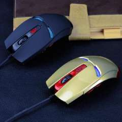 New Iron Man Design USB 2000DPI Wired Optical Gaming Mouse For PC Laptop Computer Just for you