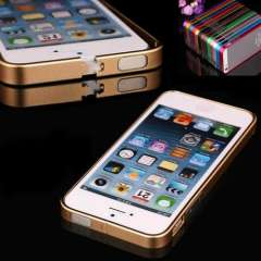 Unique Ultra Thin Aluminum Metal Bumper Frame Case Cover For iPhone5 5S 5 Snow