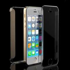 New Arrival Stylish Crystal Clear Front+Back Slim Protection Case Cover for iPhone 5 5S Case Cover Lot High Quanlity Wholesale