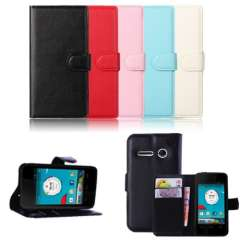 New 2015 Hot Sale Leather Wallet Pouch Flip Case Cover For Vodafone Smart 4 Mini High Quanlity & Wholesales