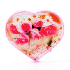 Heart-shaped electric rotary frame / double-sided photo frame | Random Color