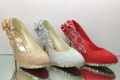 High-heeled shoes diamond bridal shoes wedding shoes party shoes gold silver dress shoes red shoes