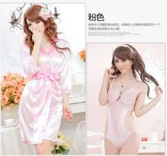 Siamese tight sexy ice silk | Lei Sisheng multiple sets of clothing pajamas | sexy lingerie suit Temptation