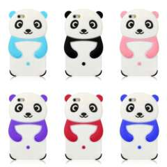 2015 3D Cute Cartoon Panda Soft Sillicone Back Case Cover For iPhone 6 6G 4.7 inch Snow