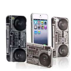 Unique Retro Cassette Tape Recorder Printed Back Case Cover For iPhone 6 6G 4.7 Inch Snow