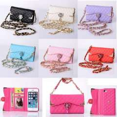 New Fashion Bling Wristlet handbag Leather Wallet Flip Cover Case For iPhone 5 5S Just for you