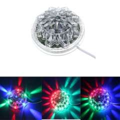 EU Plug Sunflower 48LED 8W Crystal LED RGB Crystal Magic Ball Effect Stage Light Voice-Activated \Auto Rotating for DJ Disco Bar