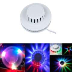 EU Plug Sunflower 48 LED Voice-Activated \ Auto Rotating 8W LED RGB Stage Lighting Disco DJ Party Light