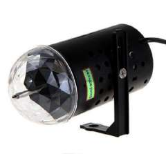 US Plug 3W AC 85-260V Worldwide Vottage RGB LED Vocie-activated Rotating Stage Light Magic Ball Lamp for Bulb Party Bar KTV
