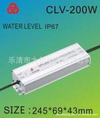 Factory direct waterproof power supply switching power 200W24VLED rain switching power supply LED driver