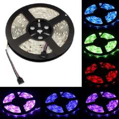 Waterproof Outdoor 5M RGB SMD 5050 300 LEDs Flexible LED Strip with IR Remote + DC 12V Power Charger